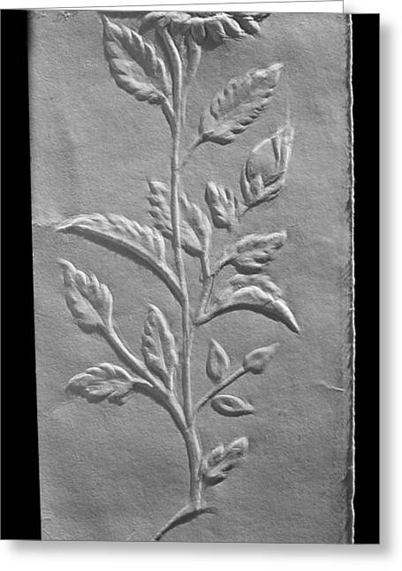 Drawing Reliefs Greeting Cards - NakhaChitra Relief Drawing Greeting Card by Suhas Tavkar