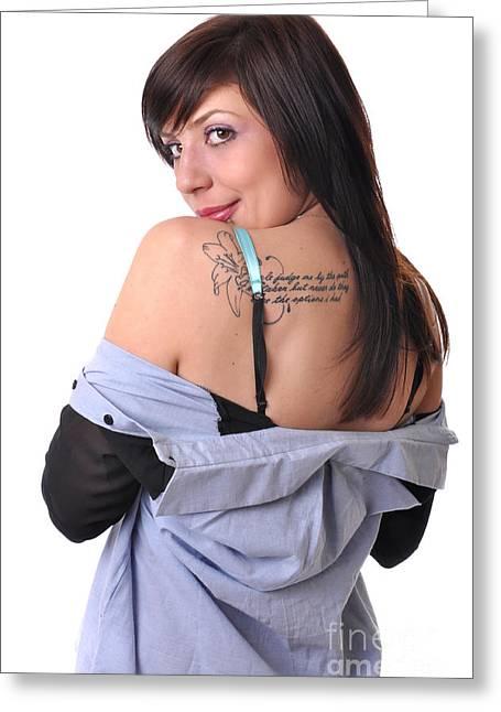 Provocative Clothing Greeting Cards - Nakita9 Greeting Card by Yhun Suarez