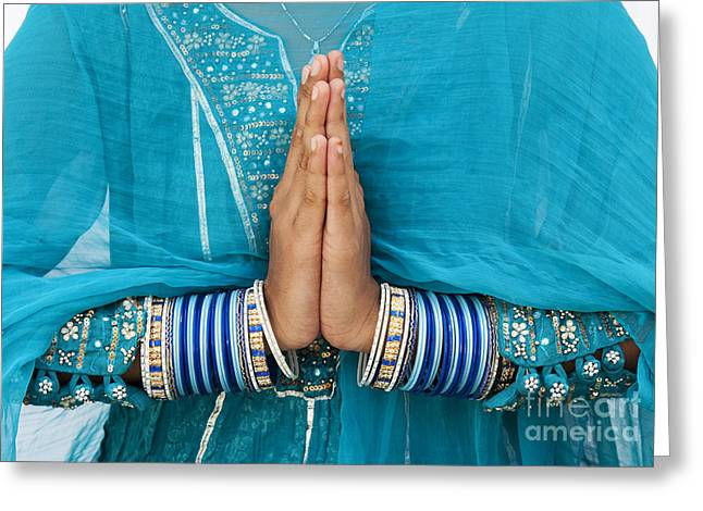 Praying Hands Greeting Cards - Namaskar Greeting Card by Tim Gainey