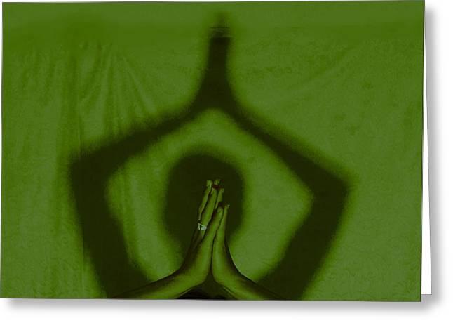 Ying Greeting Cards - Namaste Greeting Card by Doug Walker
