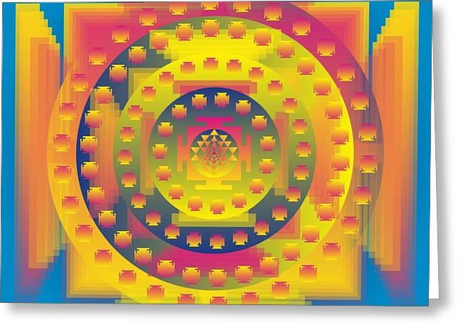 Metaphysics Greeting Cards - Namaste Healing Mandala Greeting Card by Sarah  Niebank