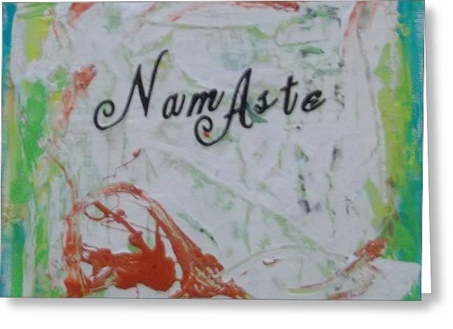 Namaste Greeting Card by Karen Lillard