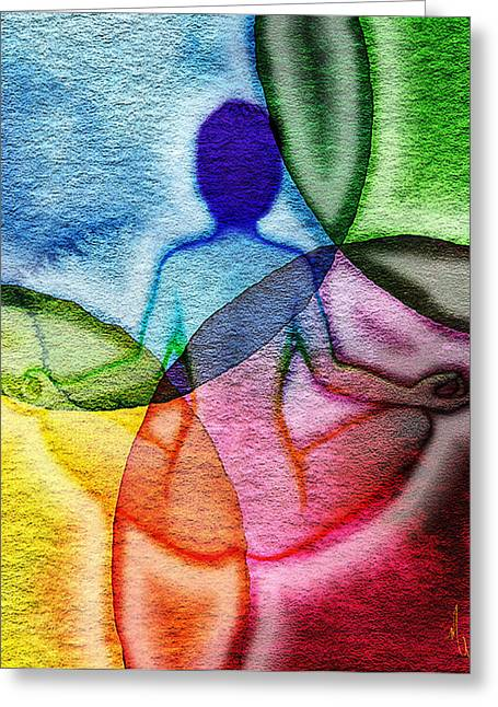 Chakra Rainbow Greeting Cards - Namaste Greeting Card by Michelle Rene Goodhew