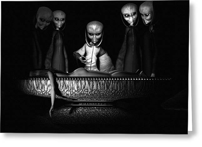 Abduction Digital Art Greeting Cards - Nameless Faces Greeting Card by Bob Orsillo