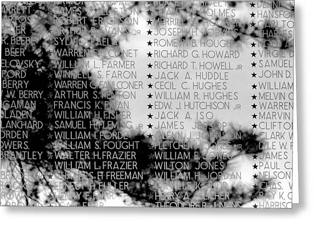 Iraq Conflict Greeting Cards - Names on the Wall Greeting Card by Mike Flynn