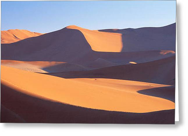 Namib Desert, Nambia, Africa Greeting Card by Panoramic Images