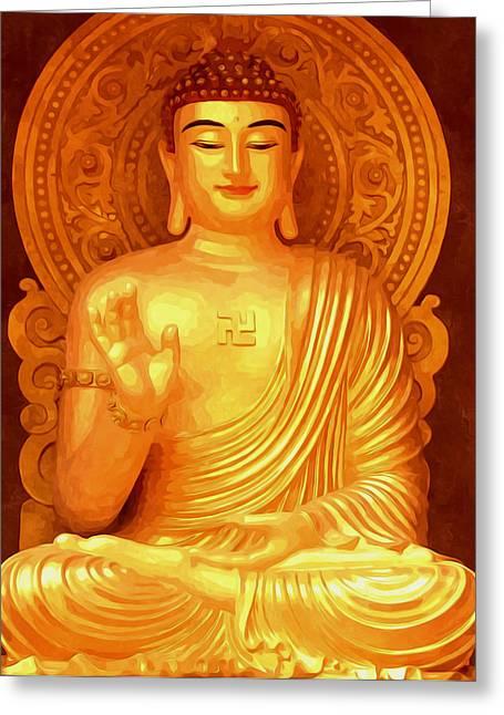 Namo Amitabha Buddha 36 Greeting Card by Lanjee Chee