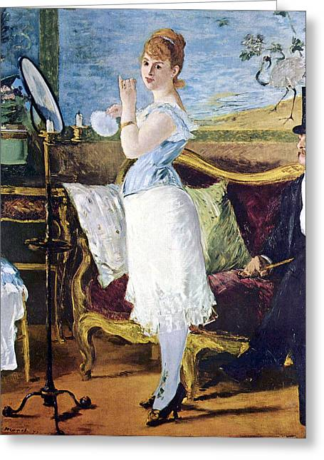 Old Masters Greeting Cards - Nana Greeting Card by Edouard Manet