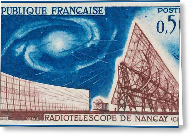 """france Poster"" Greeting Cards - Nancay radiotelescope 1963 Greeting Card by Lanjee Chee"