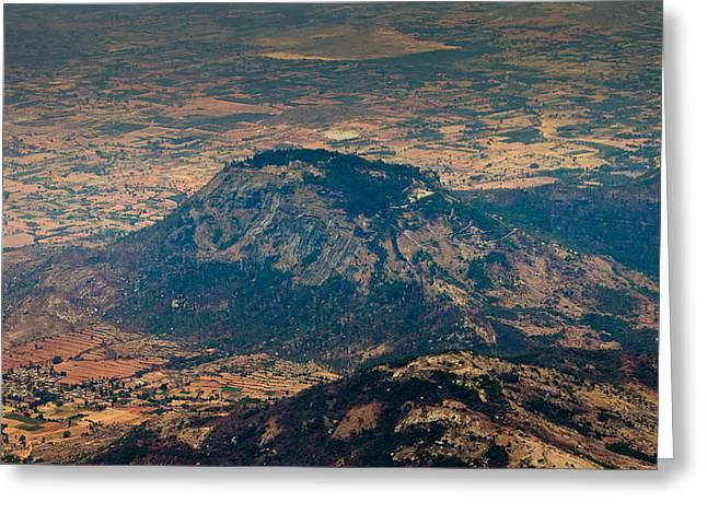 Nandi Greeting Cards - Nandi Hills - aerial view Greeting Card by Saurav Pandey
