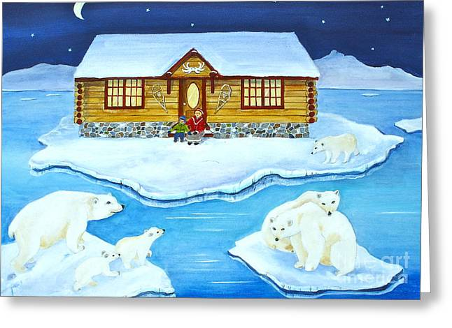 Canmore Artist Greeting Cards - Nanook of the North Greeting Card by Virginia Ann Hemingson