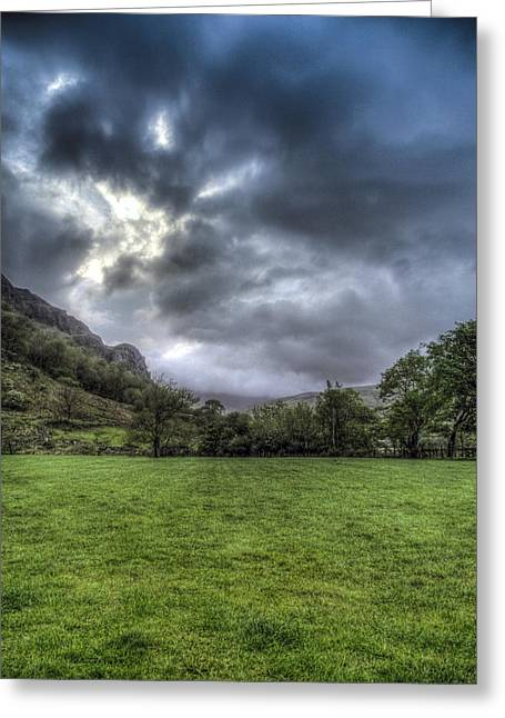 Storm Prints Greeting Cards - Nant Gwynant Campsite Greeting Card by Paul Madden