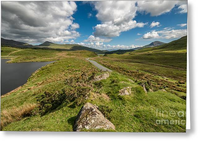 Water Sports Greeting Cards - Nantlle Valley Greeting Card by Adrian Evans