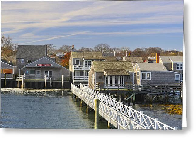 Cape Cod Mass Greeting Cards - Nantucket Harbor II Greeting Card by Marianne Campolongo