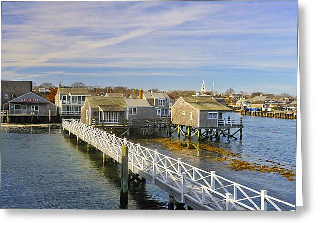 Cape Cod Mass Greeting Cards - Nantucket Harbor III Greeting Card by Marianne Campolongo