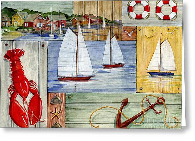 Fishing Boats Greeting Cards - Nantucket I Greeting Card by Paul Brent