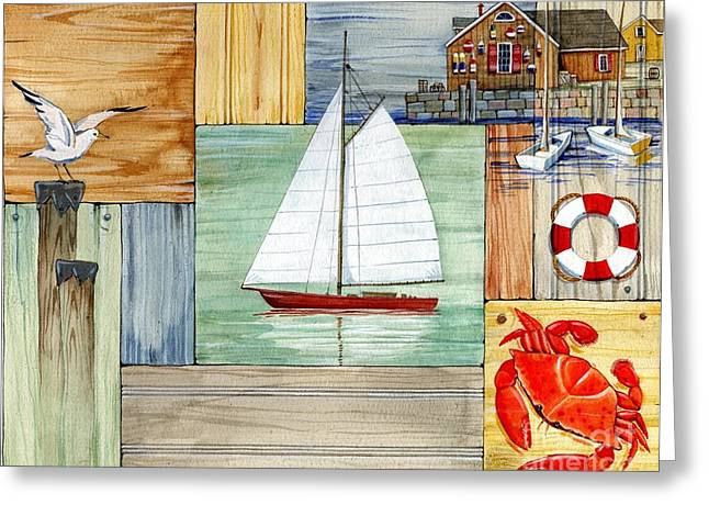 Fishing Boats Greeting Cards - Nantucket II Greeting Card by Paul Brent