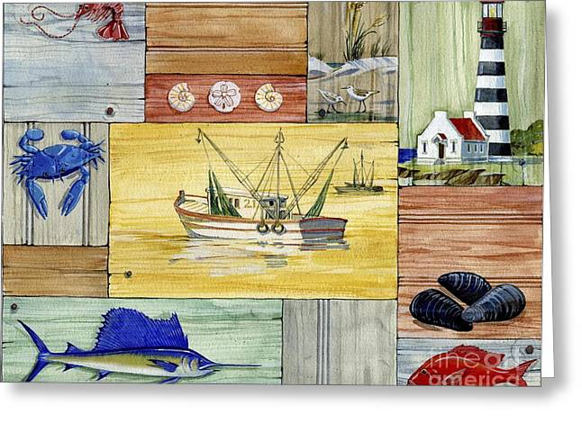 Fishing Boats Greeting Cards - Nantucket III Greeting Card by Paul Brent