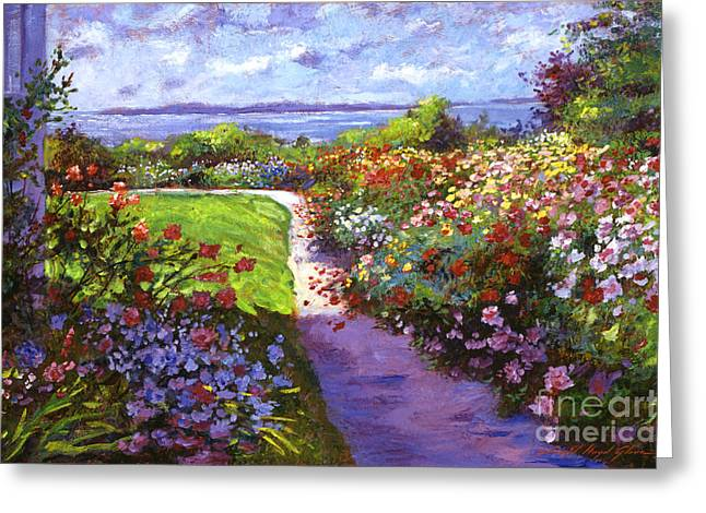 Recommended Paintings Greeting Cards - Nantucket Island Garden Greeting Card by David Lloyd Glover