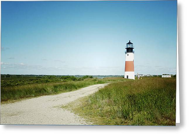 Nantucket Sound Greeting Cards - Nantucket Lighthouse Greeting Card by Natasha Marco