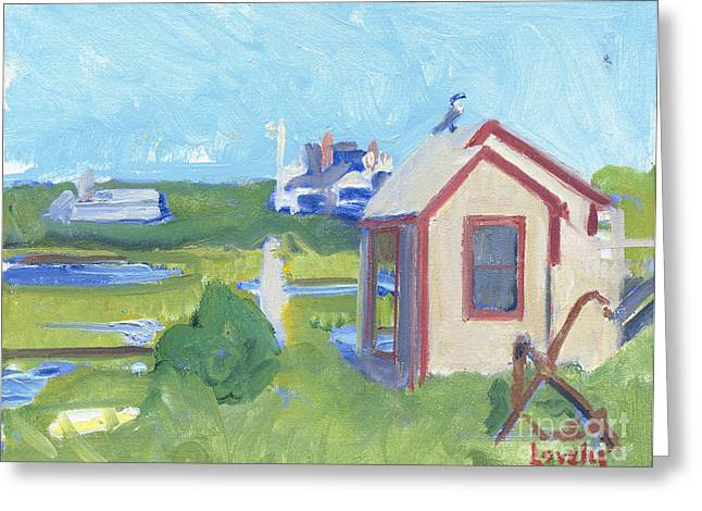 Lobster Shack Paintings Greeting Cards - Nantucket Lobster Shack Greeting Card by Candace Lovely