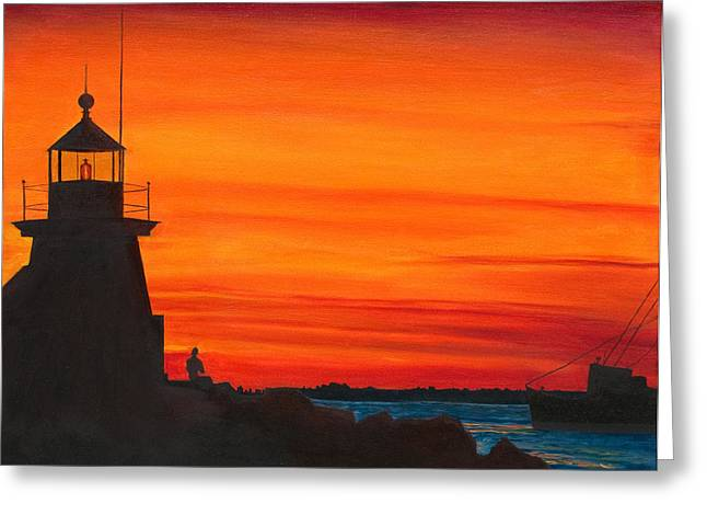 Nantucket Greeting Card by Phillip Compton