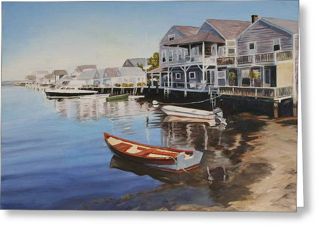 Recently Sold -  - Ocean. Reflection Greeting Cards - Nantucket Greeting Card by Sue Birkenshaw