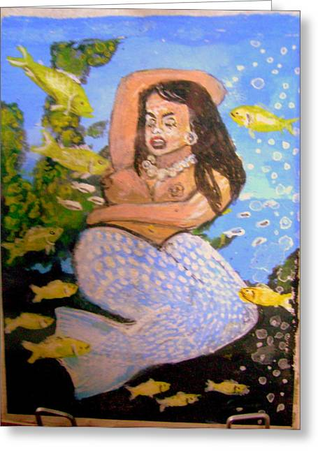 Sleeping Mermaid Greeting Cards - Nap Time Greeting Card by Edd Nelson