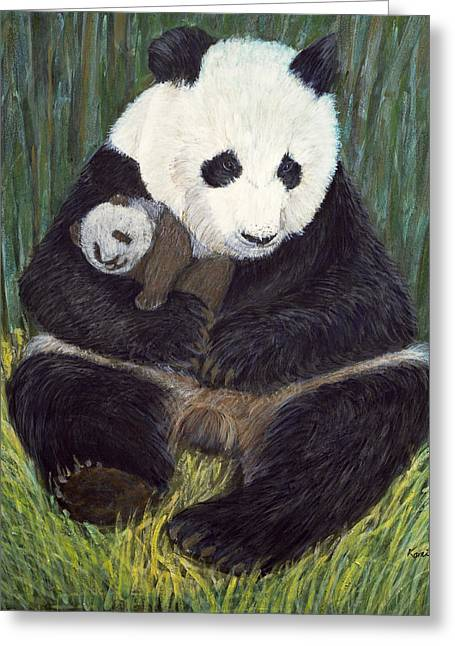 Kid Paintings Greeting Cards - Nap Time Greeting Card by Komi Chen