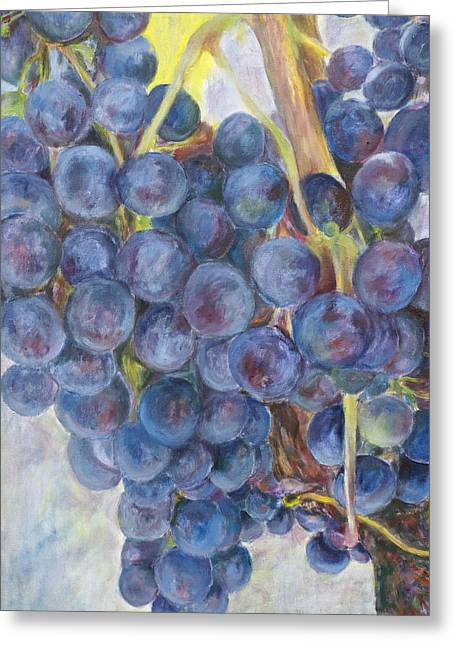 Nick Vogel Greeting Cards - Napa Grapes 1 Greeting Card by Nick Vogel