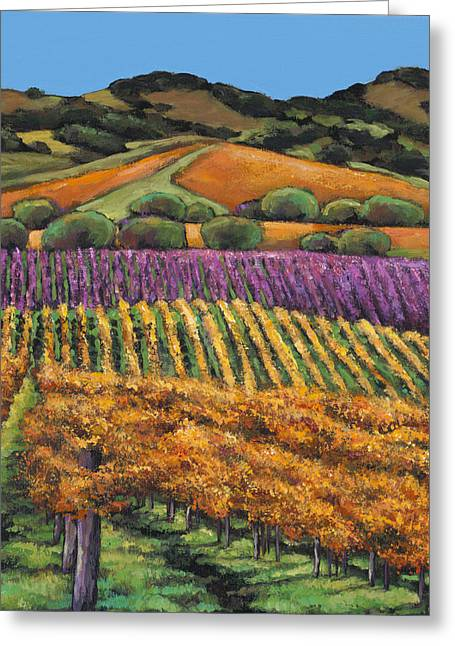 Wine Vineyard Greeting Cards - Napa Greeting Card by Johnathan Harris