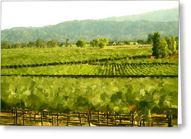 Pinot Digital Art Greeting Cards - Napa Greeting Card by Paul Tagliamonte