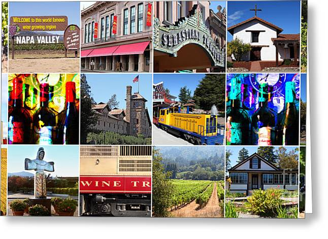 Napa Sonoma County Wine Country 20140906 Greeting Card by Wingsdomain Art and Photography