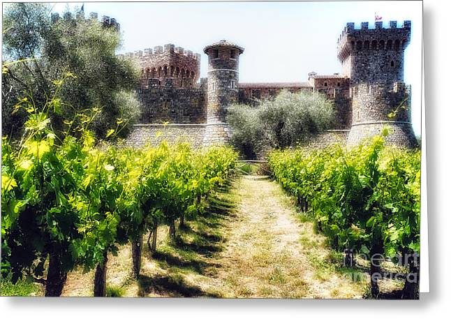 Calistoga Greeting Cards - Napa Valley Dream Castle Greeting Card by George Oze