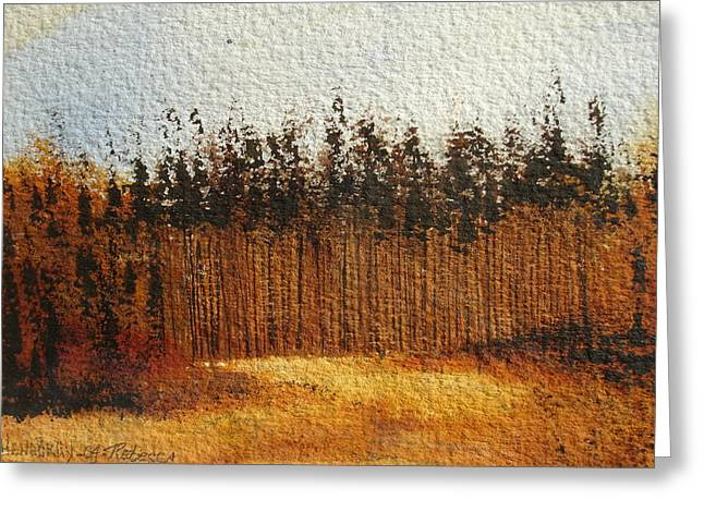 Wine Tour Mixed Media Greeting Cards - Napa Valley fall forest Greeting Card by Rebecca Lou Mudd