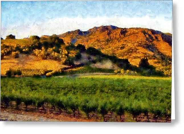 Calistoga Digital Art Greeting Cards - Napa Valley Greeting Card by Kaylee Mason