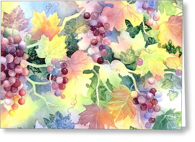 Napa Valley Morning 3 Greeting Card by Deborah Ronglien