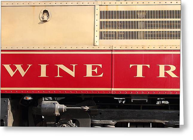 Napa Valley Vineyard Greeting Cards - Napa Valley Railroad Wine Train in Napa California Wine Country 7D8988 square Greeting Card by Wingsdomain Art and Photography