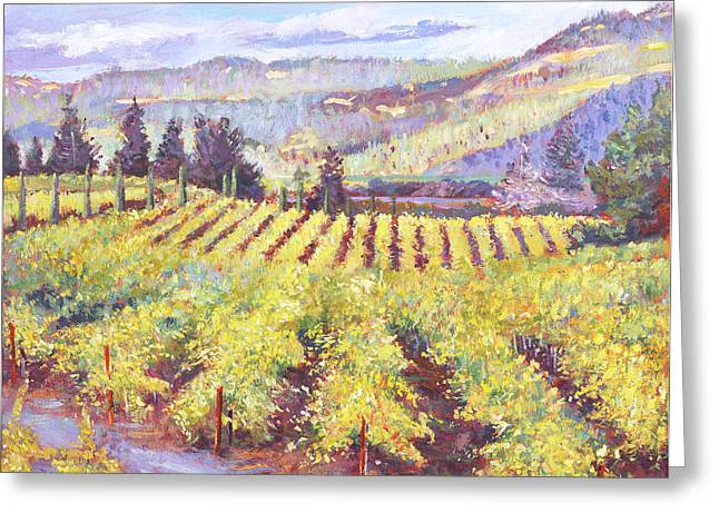 Vines Greeting Cards - Napa Valley Vineyards Greeting Card by David Lloyd Glover