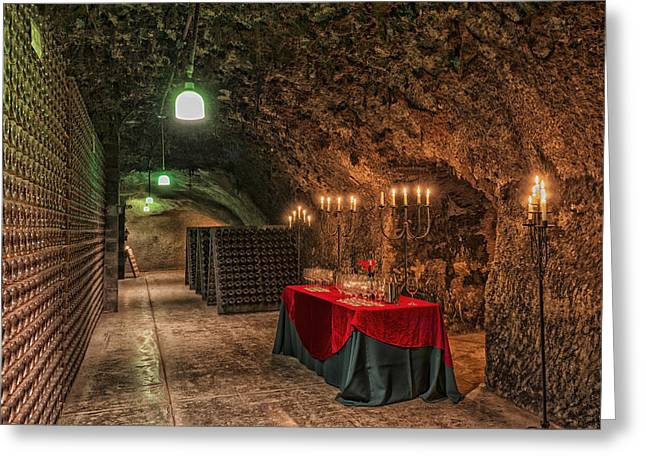 Napa Valley Wine Cave Greeting Card by Mountain Dreams