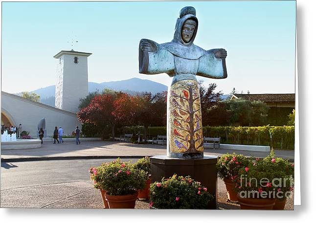 Napa Valley Winery 7d9046 Greeting Card by Wingsdomain Art and Photography