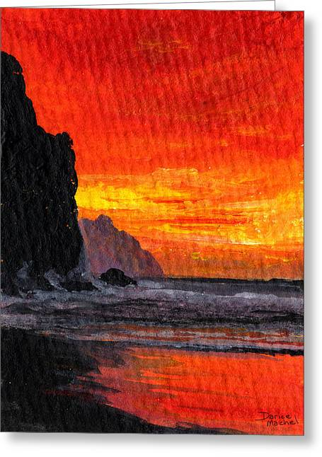 Tropical Island Greeting Cards - Napali  Greeting Card by Darice Machel McGuire