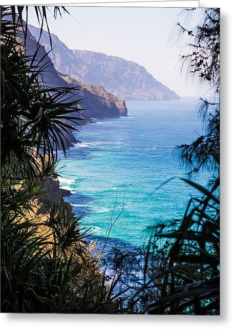 Napali Greeting Cards - Napali Kauai Greeting Card by April Reppucci