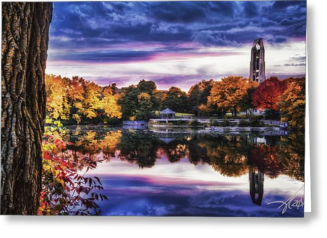 Calm Waters Digital Greeting Cards - Naperville In Autumn Greeting Card by Anthony Citro