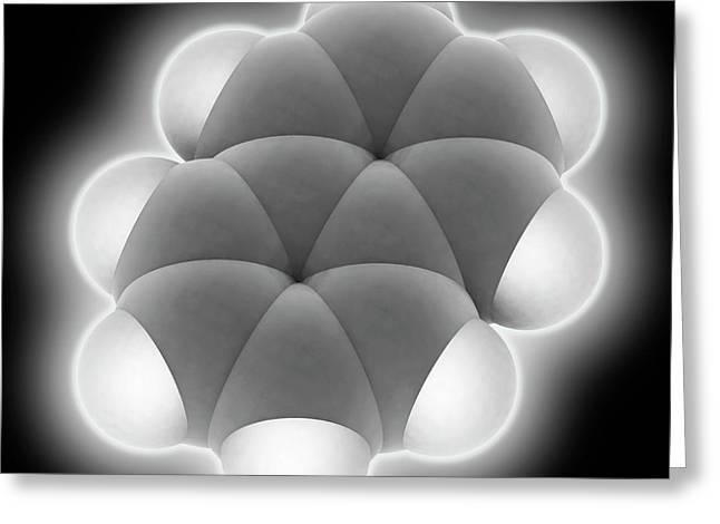 Naphtalene Molecule Greeting Card by Laguna Design