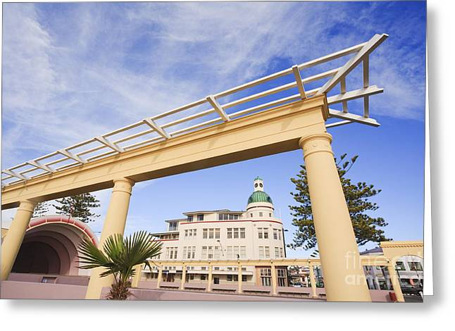 City Art Greeting Cards - Napier New Zealand Art Deco Greeting Card by Colin and Linda McKie
