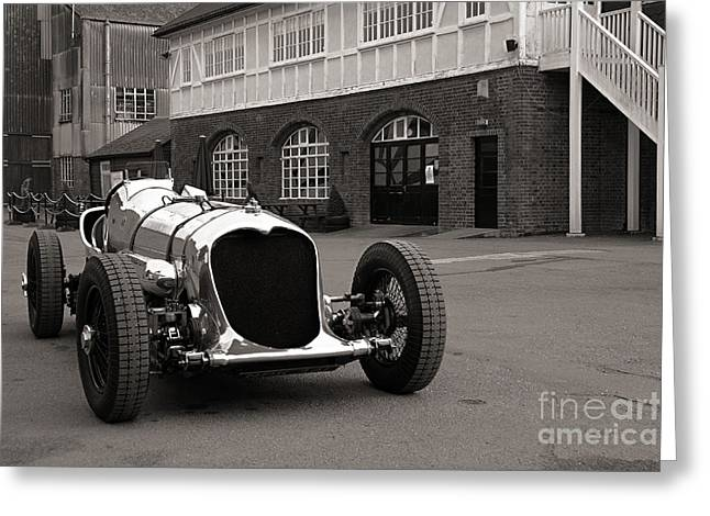 1933 Mixed Media Greeting Cards - Napier - Railton Greeting Card by Roger Lighterness