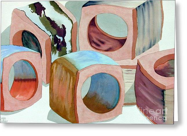 Napkin Rings Greeting Card by Carla Jo Bryant