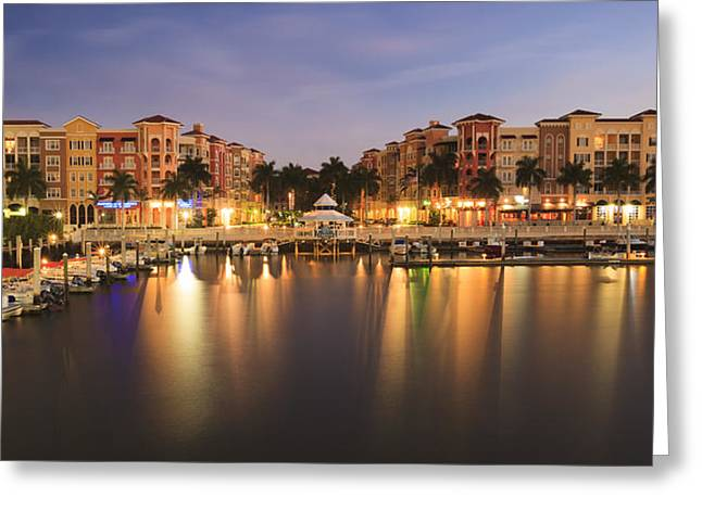 Naples Bay Greeting Card by Mike Lang