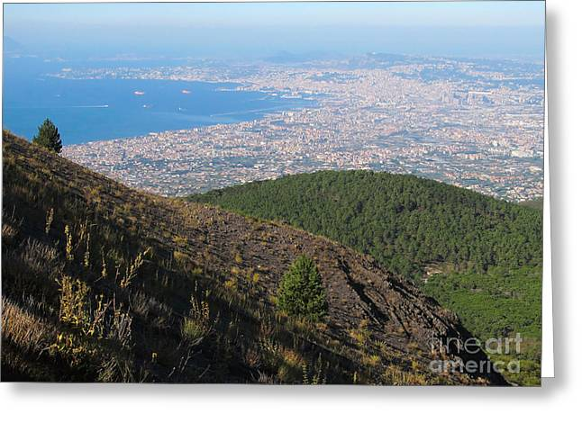 Neapolitan Greeting Cards - Naples Bay View from Mount Vesuvius Greeting Card by Kiril Stanchev